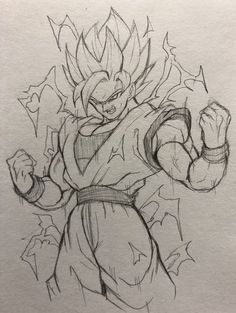 Goku has finally reached Super Saiyan Sketch! The ultimate form! Dbz Drawings, Cool Drawings, Drawing Sketches, Goku Drawing, Ball Drawing, Vexx Art, Super Saiyan, Goku Super, Dragon Ball Gt