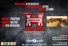 World Leaders In The Delivery Of Underground Shelters Systems : Fortified Eco Homes : Hardened Structures Hardened Shelters : EMP Risk Mitigation.