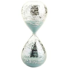 Glimmering and shimmering, this hourglass, with a mercury finish, not only looks stunning but can keep track of the hour. Decorative, functional and a great gift idea? Hello.