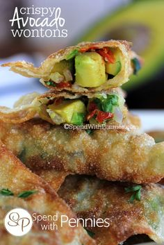 Crispy Avocado Wontons! Pin it to your APPETIZER board to SAVE it for later! Follow Spend With Pennies on Pinterest for more great tips, ideas and recipes! These are super yummy and easy to make! If you're a fan of avocado egg rolls found at restaurants these days, you're going to love these crispy …