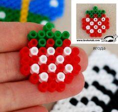 Strawberry perler bead by Кrокотак