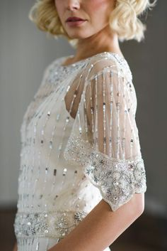 Vicky Rowe 1920s and 1930s style beaded and intricately embellished wedding dresses