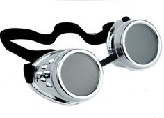 Plain Silver Goggles DIY Cosplay Welder Glasses Mad Scientist