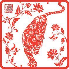 Año chino de tiger 2010 (rojo