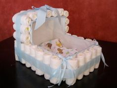 Diaper Cake Bassinet  Private Sale Reserved by NonnasCrafts