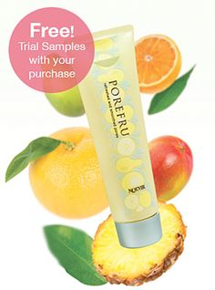 Porefru Gel Masque Online Special!  Get FREE Porefru Samples with your purchase!  Noevir  This refreshing citrus scented, gentle fruit-based mask is formulated to help unclog pores, control excess sebum and refine the surface of the skin for a beautiful complexion. Perfect for all skin types. Purchase a Porefru Gel Masque and receive three FREE Porefru Trial Samples as a gift!    This offer is only available through January 15, so get online and order yours today! Special Code 2274O