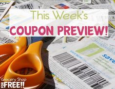This Weeks Coupon Preview Is Ready!