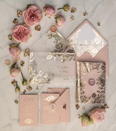 Faire-part mariage - invitation mariage - - wedding invitations gold / rose gold / silver / glitter Wedding Invitations With Pictures, Handmade Wedding Invitations, Gold Wedding Invitations, Wedding Invitation Design, Invitation Wording, Wedding Stationery, Invites, Glitter Invitations, Quinceanera Invitations