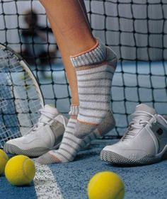Sneaker Socks, Free Pattern