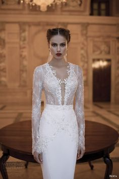 Berta Bridal Winter 2014 Long Sleeve Wedding Dresses | Inspiration for Bridal shoots and bridal fashion shoots with Adagio Images: www.adagio-images... and www.facebook.com/... | #bridal #whitedress #bridalinspiration
