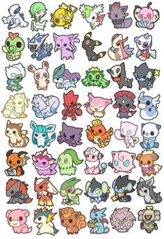 chibi pokemons.