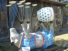 "Taipei, Taiwan - Cows on Parade 2009 - ""Buffalo Rolls"" - 107 life-size fiberglass cow statues"
