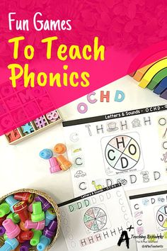 Phonics practice doesn't have to be all reading drills and worksheets. Our phonics activities will get kids moving, laughing, and learning as they develop and hone phonological awareness skills on the road to reading fluency. #teachingreading #phonics