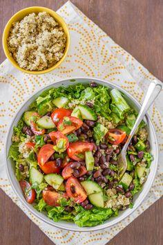 mexican quinoa salad bowl