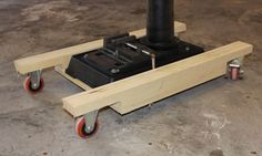 Mobile base for my drill press - Mobile bases - Gallery - Wood Talk Online