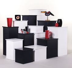 Basic display pedestals manufactured and distributed by Easy Pedestal. We are the original suppliers of the corrugated pedestal. Our pedestal will hold in excess of 200lbs. See more @ www.easypedestal.com