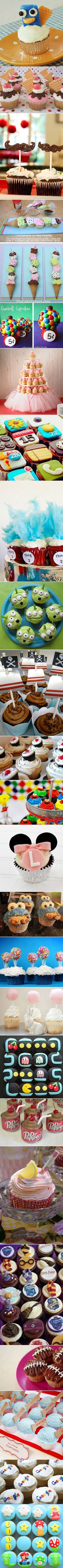 We've rounded up 24 cool and creative cupcake designs for geeks.