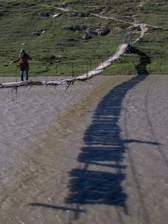 Bridge over Raut river, Moldova.... gets interesting toward the end if you look at the shadow!