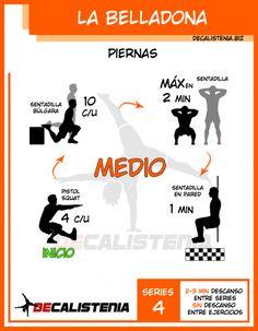 Rutina de Calistenia para Piernas - Nivel Intermedio Yoga Fitness, Fitness Tips, Health Fitness, Hiit, Cardio, Leg Circuit, Calisthenics Workout, Gym Tips, Muscle Up
