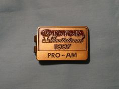 Toyota Invitational Pro-Am Badge / Money Clip Money Clips, Toyota, Badge, Ebay, Badges, Money Clip