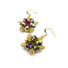 Moonflower Beaded Earring Tutorial - product images  of