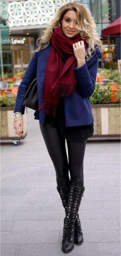 Fall street style - Boots: Aldo , Scarf: Acne , Jacket: Oasis