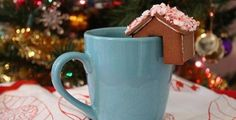 Creative christmas treats gingerbread cookies for mugs! You can find the cookie cutters at IKEA for a bargain