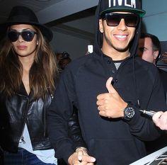 Hamilton wears rectangular sunglasses! #Fashion #Style #Celebrities