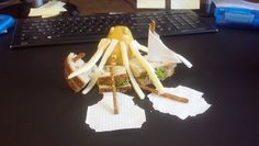 Kraken by Eddieslunch. Note to self: start playing with your lunch.