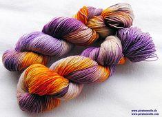 handgefärbte Sockenwolle 75 Wolle 25 Polyamid 100 g Nr.