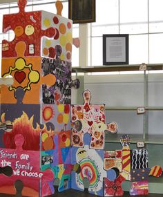the puzzle art installation & collaborative project north salem elementary school tim kelly artist nyc