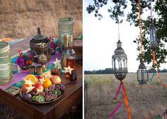 Eine inspirierende orientalische Hochzeit in Pink, Türkis und Violett