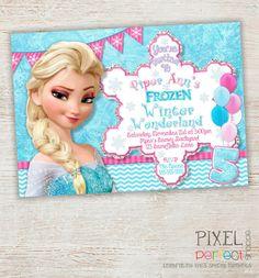 Invitación de cumpleaños congelados la por PixelPerfectShoppe