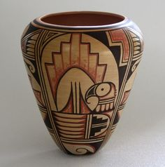 Hopi Artists and Crafts Native American Baskets, Native American Artwork, Native American Pottery, American Indian Art, Pottery Painting, Pottery Vase, Vases, Navajo Art, Hopi Indians