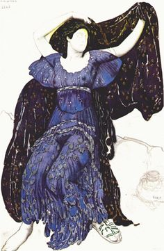 Нарцисс Нимфа-Эхо 1911. Леон Бакст