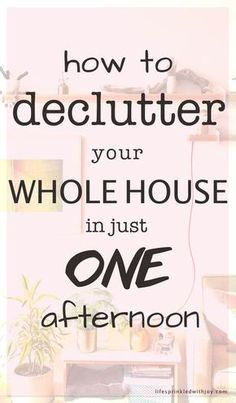 how to declutter your whole house in one afternoon - this is a great cleaning tip for busy moms with limited time! Decluttering tips Declutter Home, Declutter Your Life, Organizing Your Home, Organizing Papers, Clutter Organization, Home Organization Hacks, Organization Ideas, Kitchen Organization, Storage Ideas