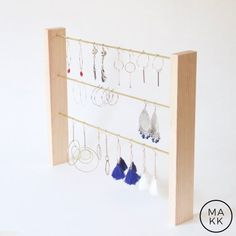 The place to buy and sell all handmade - FREJA I Earring display I Jewelry holder I Jewelry display I Jewelry organizer I Jewelry stand - Jewelry Organizer Drawer, Jewellery Storage, Jewelry Organization, Jewellery Display, Necklace Display, Earring Display, Jewelry Hanger, Jewelry Stand, Driftwood Jewelry