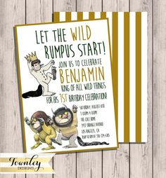 Where the Wild Things Are Birthday Birthday by TownleyDesigns