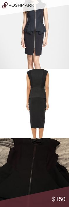 Ted Baker jumana structures peplum dress In excellent condition, in a Ted Baker size 1 Ted Baker London Dresses Midi