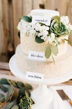 5 Steps To A Perfect Cheese Wheel Wedding Cake ❤ See more: http://www.weddingforward.com/cheese-wheel-wedding-cake/ #weddings #cakes