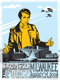 fonz-poster | by Theresa_4 Dad Son, Mom And Dad, Visit Milwaukee, The Fonz, Laverne & Shirley, Everybody Love Raymond, Perfect Strangers, Time Kids, Back Day