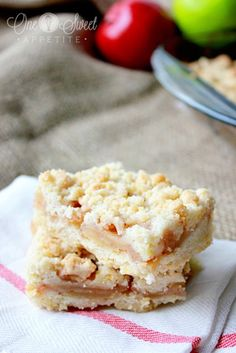 Apple Crumb Bars - One Sweet Appetite