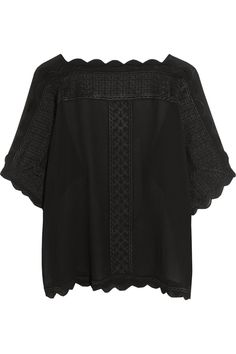 Étoile Isabel Marant | Axel embroidered georgette top | NET-A-PORTER.COM
