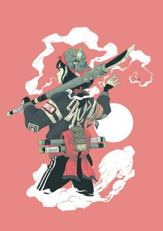 The Samurai Lives on in These Dazzling Digital Drawings - Creators