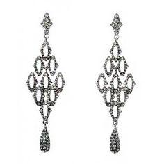 Vintage Style Crystal Drop Statement Earrings