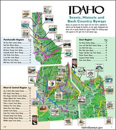 Idaho: Scenic, Historic and back country byways. Pocatello Idaho, Las Vegas, Boise Idaho, Coeur D'alene, Rv Travel, Parcs, Wyoming, Along The Way, Places To Go
