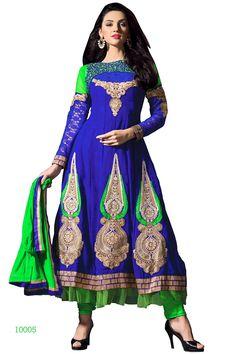 Blue anarkali salwar kameez from easysarees