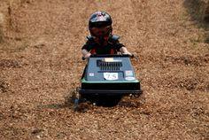 RV Activity: Snowmobile Grass Drags | OptimumRV.com