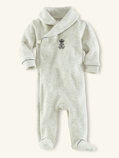 Shawl-Collar Fleece Coverall - Layette One-Pieces - RalphLauren.com