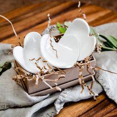 Pure White Hearts - set of 3 Tasmania, Pure White, White Porcelain, Wander, Artisan, Delicate, Hearts, Ceramics, Pure Products